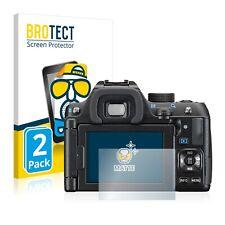 2x Display Schutz Folie für Pentax K-70 Matt Entspiegelt
