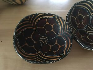 Hand painted African bowls