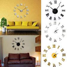 Modern DIY Mirror Surface Art Wall Clock 3D Acrylic Sticker Home Office Decor