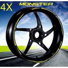 KIT ADESIVI CERCHI MOTO WHEEL GIALLO PROFILO RUOTA DUCATI Monster 1100 696 798