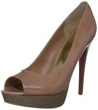 Paris Hilton Womens Debra Leather Maple Sugar OpenToe Shoes - Size 8 / EU 41