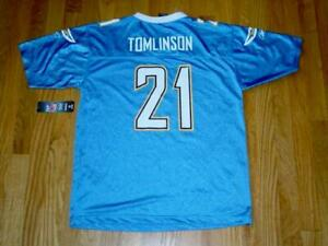Reebok NFL Team Jersey : Chargers - TOMLINSON #21 -Youth XL (18-20) or Adult M/L