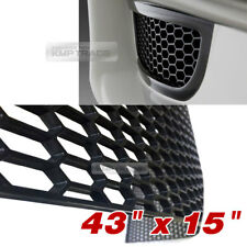 "5_Black Honeycomb Hexagon Mesh ABS Grille Fog Custom Kit 43""x15"" for ACURA Car"