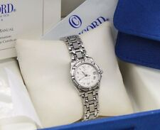 LADIES CONCORD SARATOGA SL 14-36-275 STAINLESS STEEL MOSAIC DIAL WATCH.BOX PAPER