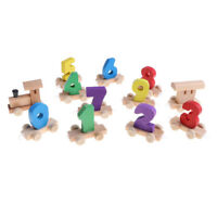 Colorful Wooden Digital Train Educational Toy for Kids Children Xmas Gift