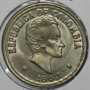 Colombia 1963 20 Centavos Eagle animal 196117 combine shipping
