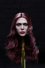 1/6 Scale The Avengers Scarlet Witch Headplay Elizabeth Olsen Head Sculpt