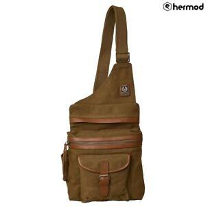 Belstaff Holdster Canvas Shoulder Bag - Beige