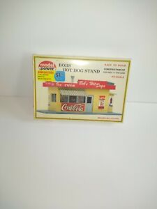 Model Power 441 HO Scale Bob's Hot Dog Stand Plastic sealed Model Kit