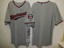 9918-2 Mens Majestic MINNESOTA TWINS Authentic GAME Jersey New GRAY $199.99