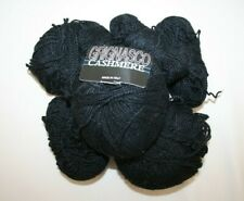 Grignasco 100% Fine Cashmere Yarn in Black Made in Italy 3 1/2 balls