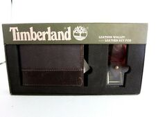Brand New Timberland Brown Wallet plus Key chain w Box/Tags