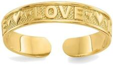 14K Yellow Gold Love Toe Ring