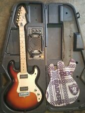 Vintage Peavey T-15 Electric Guitar Tobacco Sunburst with the built in amp case!