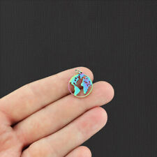 Earth Rainbow Electroplated Stainless Steel Charm - Ssp129