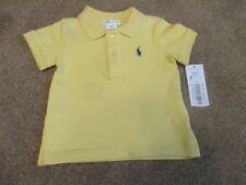 Ralph Lauren Boys Size 6m Yellow Polo Shirt with Navy Pony New