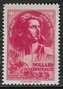Canada 1944 Poster Stamp - Societe Saint Jean Baptiste, DOLLARD ORMEAUX - dw804L