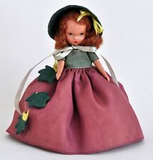 Nice Vintage 1940s Nancy Ann Storybook Doll Autumn #92 Frozen Leg w Bonnet & Box
