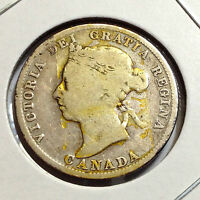 CANADA 1901 TWENTY FIVE CENTS STERLING SILVER NICE COLLECTOR COIN