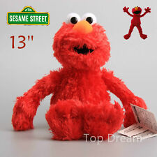"NEW OFFICIAL Sesame Street ELMO 13"" Beanie Plush Toy Soft Stuffed Doll Teddy RED"