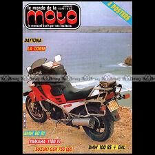 LE MONDE DE LA MOTO N°125-b YAMAHA FJ 1100 XT 500  BMW R80 RT HONDA MTX 50 1985