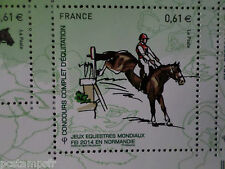 FRANCE 2014, timbre CHEVAL, HORSE, JEUX, EQUITATION, neuf**, VF MNH STAMP