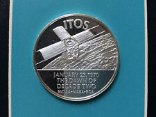 Franklin Mint RCA Defense Electronic Products ITOS-TIROS Silver Round A4607