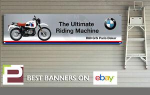 EXTRA LARGE BMW R80 G/S Paris Dakar Banner for Workshop, Garage, 3000mm x 750mm