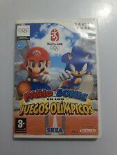 Mario y Sonic en los Juegos Olimpicos Nintendo Wii PAL España SIN MANUAL