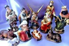 """Nativity Set 11 Figures 3.5"""" Hand Painted Resin Traditional Design 89307"""