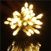 10/20/30/40 LED Warm White Party String Fairy Mini LED Lights AA Battery Decors