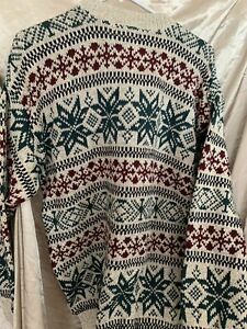 Northwest territory vintage Sweater Long Sleeve multicolor Size M Cotton Warm