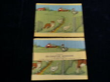 Vtg Dennison Crepe Paper Banner 1920s 1930s Farm Animal Scene Border Unused  A22
