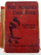 Vintage 1931 Miss Minerva's Cook Book Black Americana 1st Edition