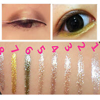 Liquid Glitter Eyeliner Lidschatten Glänzend Wasserdicht Make-up Neu.