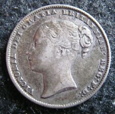 1861 Great Britain Shilling KM# 734.1 Silver Circulated f-vf Coin