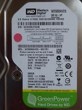 500gb western digital WD 5000 aads - 63u7b1 | hbnnht 2ah | 19 feb 2014