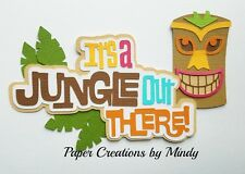 Craftecafe Mindy Jungle Out There premade paper piecing scrapbook title diecut