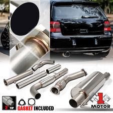 """SS Turbo Back Exhaust System 3"""" Muffler Tip for 99-05 VW Jetta/Golf 1.8 1.8T MK4"""