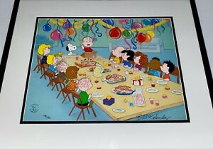 Peanuts Cel Charlie Brown Snoopy Treasured Friends Signed Bill Melendez Cell