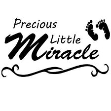 Precious Little Miracle.  Wall Art Sticker Decal Quote Saying
