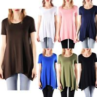 Plus Size Women Short Sleeve Basic T-Shirt Soft Stretchy Tee Top S M L 1X 2X 3X