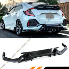 FOR 2016-2019 HONDA CIVIC FK7 HATCHBACK SPORT TYPE-R STYLE REAR BUMPER DIFFUSER