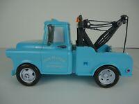 """Disney Pixar Cars Tow Mater  Lights & Sounds 11"""" Talking Blue Wrecker Mattel"""