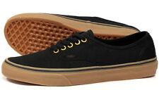 Vans Authentic Mens Womens Black Brown Gum Rubber Sole Skate Shoes Size 9.5
