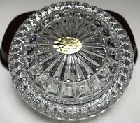 Vintage Lead Crystal Round Lidded Trinket Dish The European Collection MINT