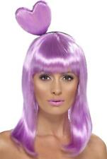 LADIES CANDY QUEEN WIG WOMENS LILAC KATY PERRY PARTY ACESSORY AND HEART HEADBAND