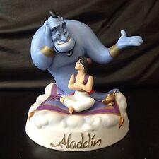 Disney GENIE & ALADDIN Porcelain Med Figurine Limited Edition 1347 Out of 15,000