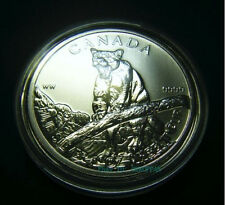 2012 Canada $5 Cougar Wild Life series 1oz .9999 Fine Silver Bullion Coin