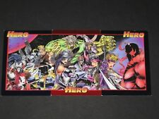 HERO MASTER FOIL © 1993 Cyber & Strike Force Insert Chase Promo (3 Card Set)